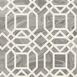Daphne Grey Trellis Wallpaper