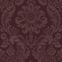 Shadow Merlot Damask Wallpaper