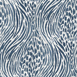 Splendid Blue Jungle Wallpaper