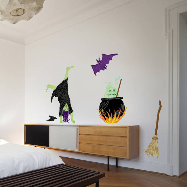 Witch's Brew - Halloween Wall Decal Set