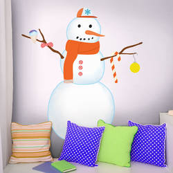 Snow Man - Christmas Wall Decal