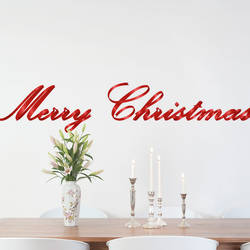 Merry Christmas - Christmas Wall Decal
